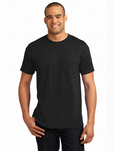 Hanes Ecosmart Cotton/poly T-shirt - Black - Unisex - Corporate Apparel