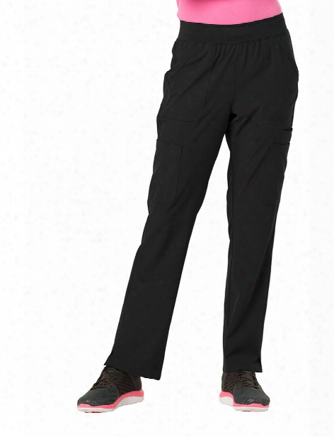 Heartsoul Drawn To Love Straight Leg Cargo Scrub Pant - Black - Female - Women's Scrubs