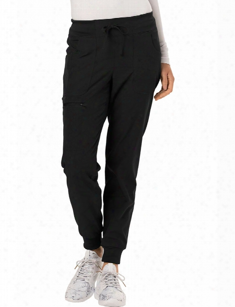 Heartsoul The Jogger Tapered Leg Drawstring Scrub Pant - Black - Female - Women's Scrubs