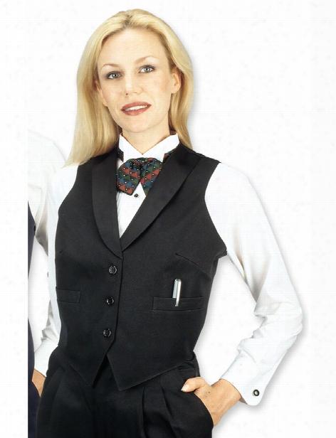 Henry Segal Ladies Full Back Vest - Black - Unisex - Chefwear