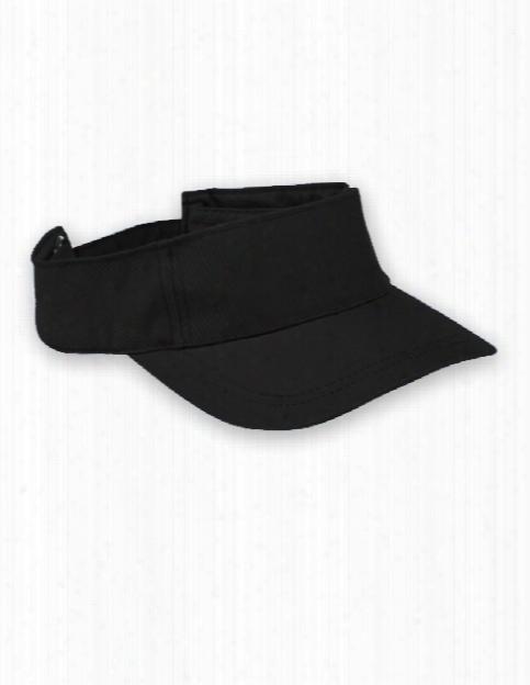 Htt Head Value Twill Visor - Black - Unisex - Corporate Apparel