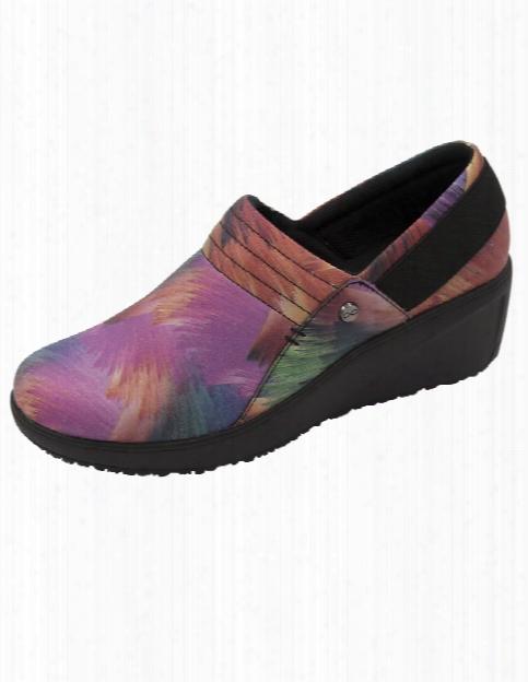 Infinity Footwear Glide Slip Resistant Multi Print Shoe - Multi-black - Female - Women's Scrubs
