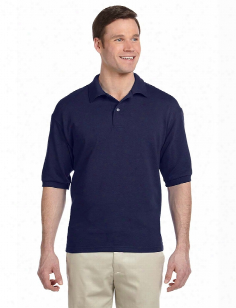 Jerzees 50/50 Pique Polo With Spotshield - Navy - Unisex - Corporate Apparel