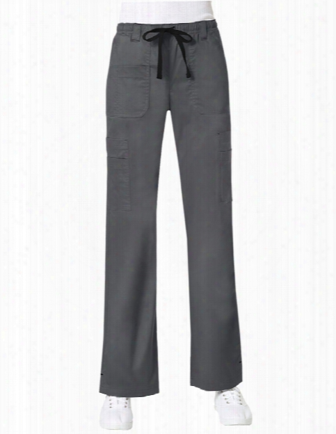 Maevn Blossom Collection Multi Pocket Cargo Scrub Pant - Pewter - Female - Women's Scrubs