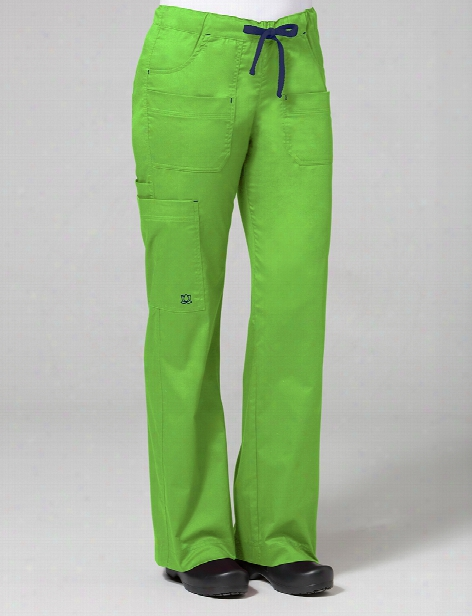 Maevn Blossom Collection Utility Pocket Cargo Scrub Pant - Apple Green - Female - Women's Scrubs