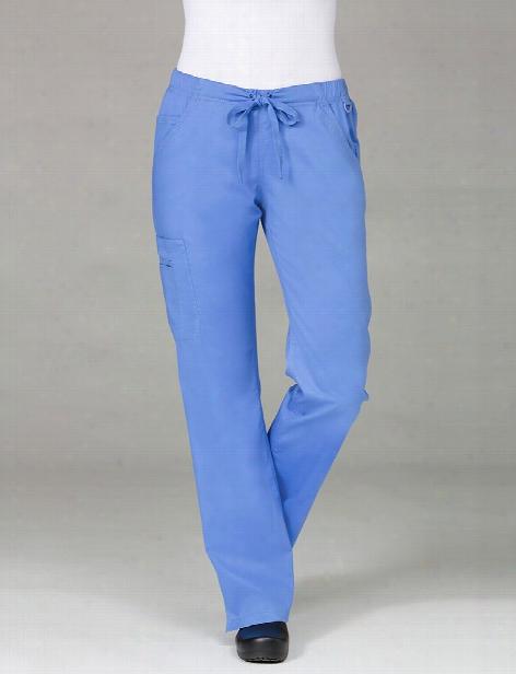 Maevn Blossom Straight Leg Cargo Scrub Pant - Ceil Blue - Female - Women's Scrubs