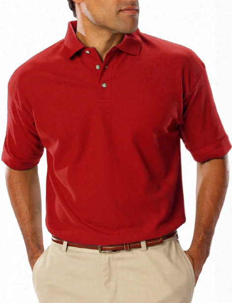 Mrubin Teflon Treated Easy Care Polo - Burgundy - Unisex - Corporate Apparel