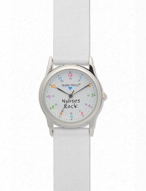 Nurse Mates Nurses Rock Watch - White - Unisex - Medical Supplies
