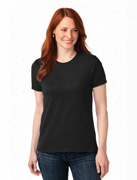 Port And Company Clearance Ladies 50/50 Cotton Poly T-shirt - Jet Black - Unisex - Chefwear