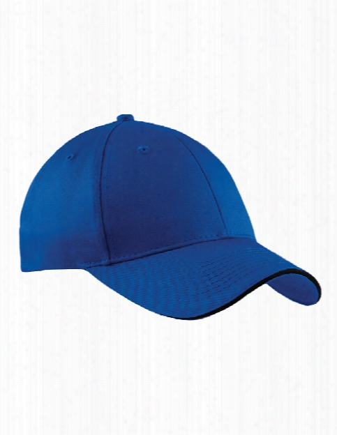 Port And Company Clearance Sandwich Bill Cap - Royal-black - Unisex - Chefwear