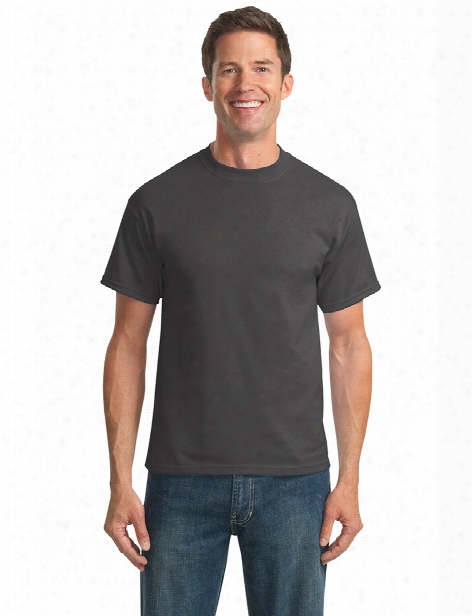 Port And Company Clearance Unisex 50/50 Cotton/poly T-shirt - Charcoal - Unisex - Corporate Apparel