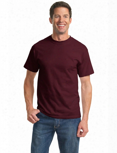 Port And Company Clearance Unisex Essentials T-shirt - Athletic Maroon - Unisex - Corporate Apparel