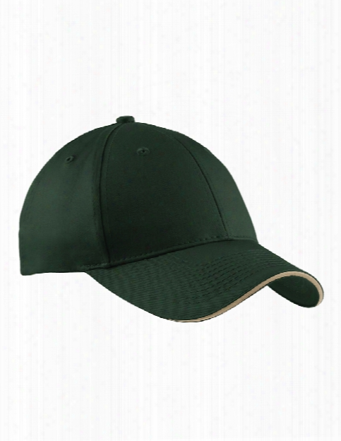 Port And Company Sandwich Bill Cap - Hunter-khaki - Unisex - Corporate Apparel