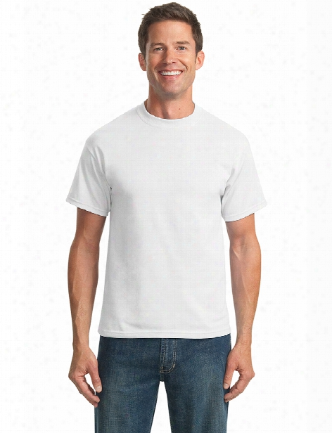 Port And Company Unisex 50/50 Cotton/poly T-shirt - White - Unisex - Corporate Apparel
