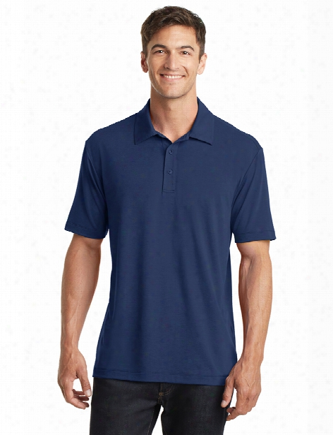 Port Authority Cotton Touch Performance Polo - Estate Blue - Unisex - Corporate Apparel