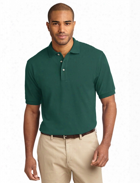 Port Authority Heavyweight Cotton Pique Polo - Forest Green - Unisex - Corporate Apparel