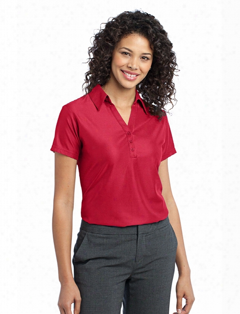 Port Authority Ladies Perform Pique Polo - Classic Red - Unisex - Corporate Apparel