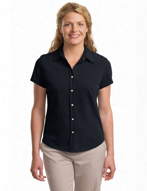 Port Authority Ladies Rapid Dry Shirt - Classic Navy - Unisex - Chefwear