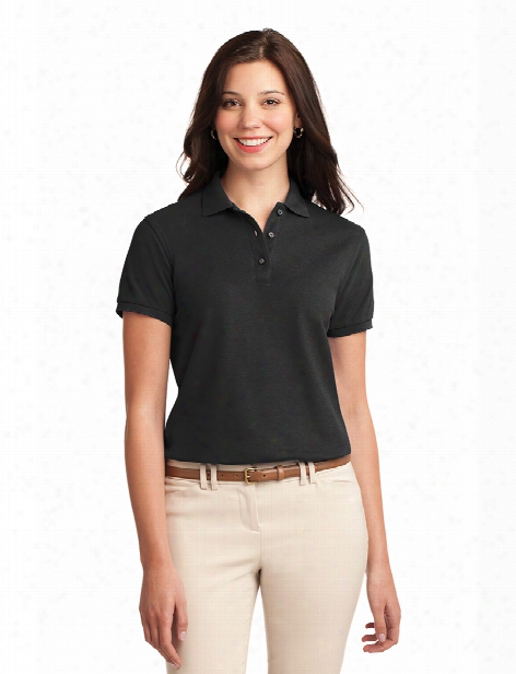 Port Authority Ladies Silk Touch Polo - Black - Unisex - Corporate Apparel