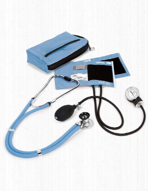 Prestige Medical Aneroid Sphygmomanometer/sprague-rappaport Stethoscope Kit - Ceil Blue - Female - Women's Scrubs