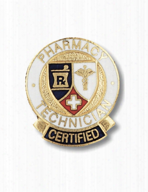 Prestige Medical Prestige Medical Certified Pharmacy Technician Pin - Unisex - Medical Supplies