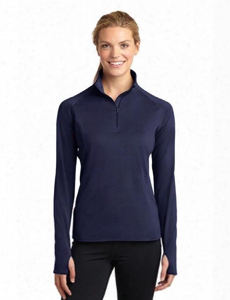 Sport-tek Clearance Ladies Sport Wick Pullover - True Navy - Unisex - Corporate Apparel