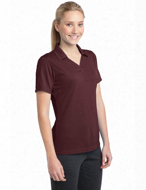 Sport-tek Ladies Micro Mesh Polo - Maroon - Unisex - Coeporate Apparel