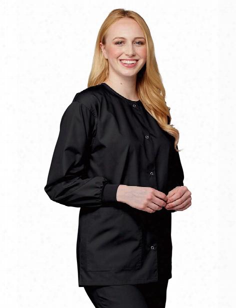 Tafford Essentials Basic Warm-up Scrub Jacket - Black - Female - Women's Scrubs