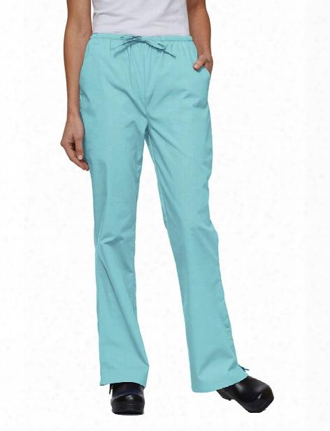 Tafford Essentials Clearance Elastic & Drawstring Waist Flare Leg Scrub Pants - Aqua Mist - Female - Women's Scrubs
