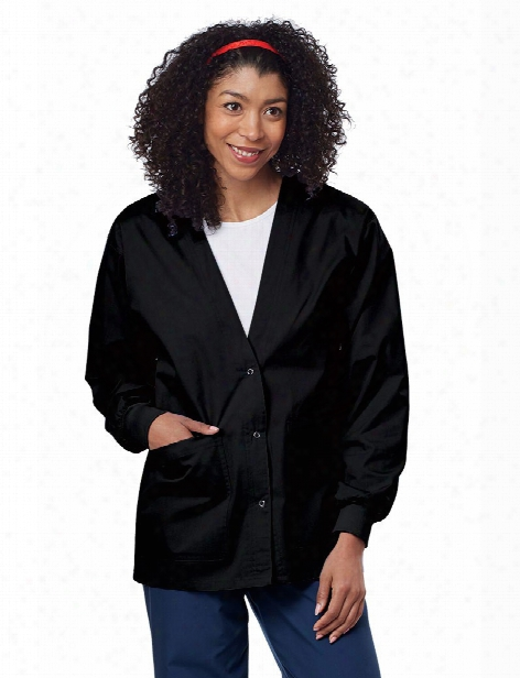 Tafford Essentials Fashion Warm-up Scrub Jacket - Black - Female - Women's Scrubs