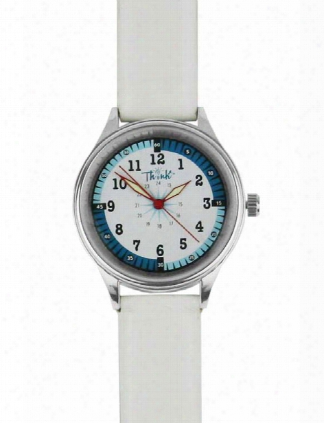 Think Medical Leather Band Watch - White - Unisex - Medical Supplies
