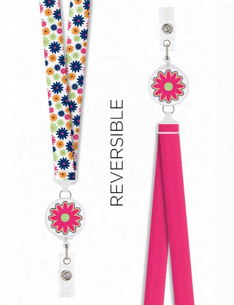 Think Medical Reversible Lanyard - Tm Floral - Unisex - Medical Supplies