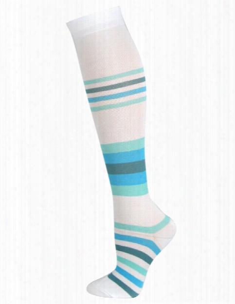 Think Medical Think Medical Blue Stripes Compression Socks - Female - Women's Scrubs