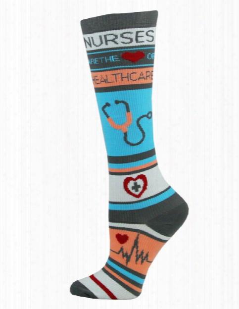 Think Medical Think Medical Nurse Health Novelty Compression Socks - Female - Women's Scrubs