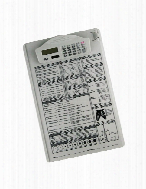 Think Medical Think Medical Reference Guide Clipboard Calculator - Unisex - Medical Supplies