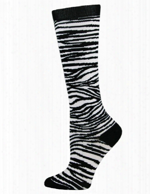 Think Medical Think Medical Zebra Pattern Compression Socks - Female - Women's Scrubs