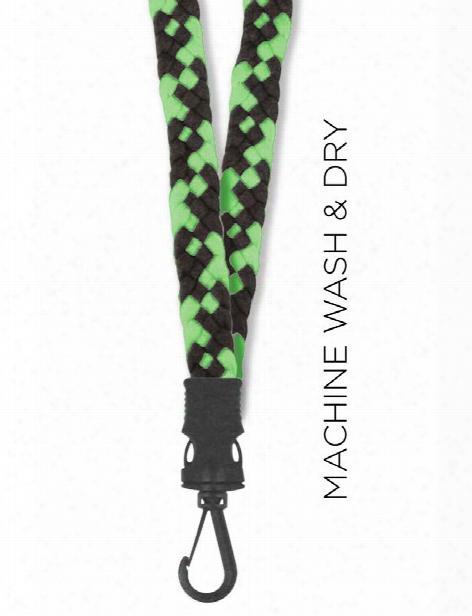 Think Medical Weaved Lanyard - Black-green - Female - Women's Scrubs
