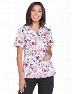 Dickies EDS Breast Cancer Awareness Dare to Dream Scrub Top - Print - female - Women's Scrubs