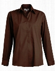 Edwards Clearance Ladies Dress Shirt - Espresso - unisex - Corporate Apparel