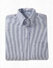 Edwards Ladies Short Sleeve Oxford Shirt - Blue Stripe - unisex - Corporate Apparel