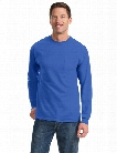 Port and Company Long Sleeve Essentials Tee with Pocket - Royal - unisex - Corporate Apparel