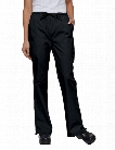 Tafford Essentials Elastic & Drawstring Waist Flare Leg Scrub Pants - Black - female - Women's Scrubs