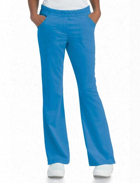 Urbane Ultimate Alexis Comfort Elastic Waist Scrub Pant - Brilliant Blue - Female - Women's Scrubs