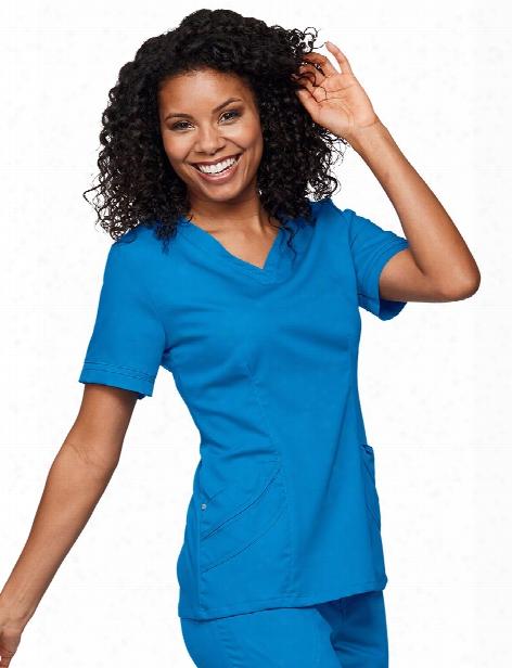 Urbane Ultimate Chloe Sweetheart Neck Tunic - Brilliant Blue - Female - Women's Scrubs