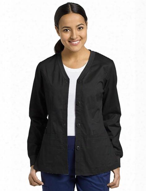 White Cross Allure Warm-up Jacket - Black - Female - Women's Scrubs