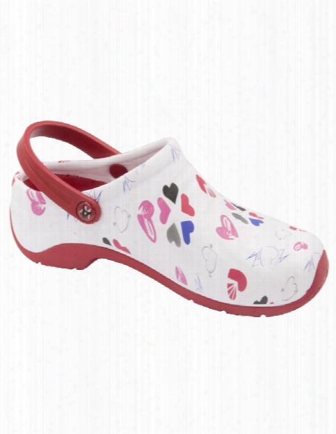 Anywear Multi Heart Zone Clog - Multi Heart - Female - Women's Scrubs