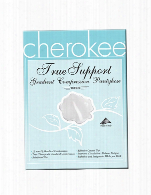 Cherokee Legwear True Support Compression Pantyhose - White - Female - Women's Scrubs