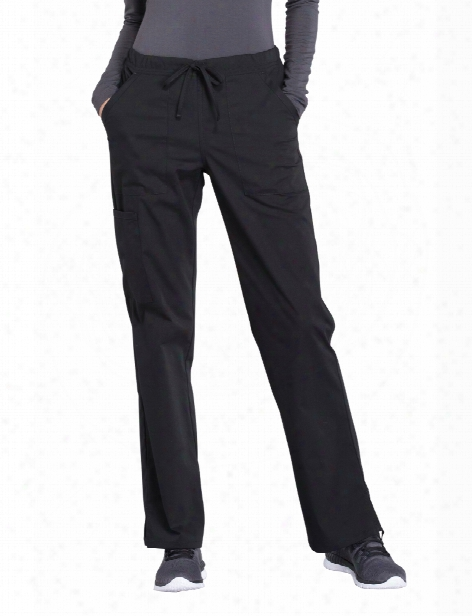 Cherokee Workwear Professionals Midrise Drawstring Scrub Pant - Black - Female - Women's Scrubs