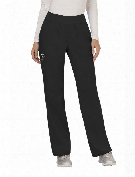 Cherokee Workwear Revolution Straight Leg Scrub Pant - Black - Female - Women's Scrubs
