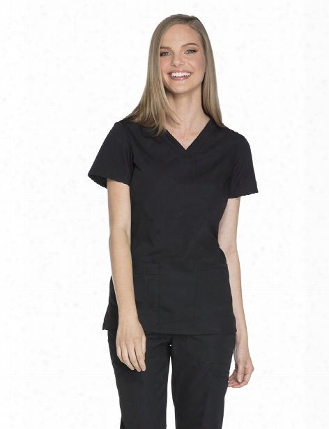 Cherokee Workwear V-neck Scrub Top - Black - Female - Women's Scrubs